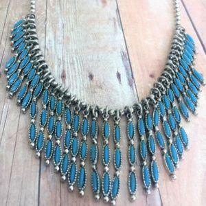 Southwestern Style Faux Turquoise Necklace
